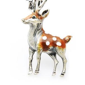 Enamel Deer Brooch